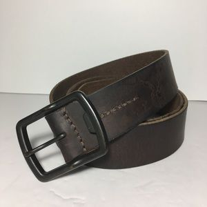 American Eagle Mens Leather Belt brown